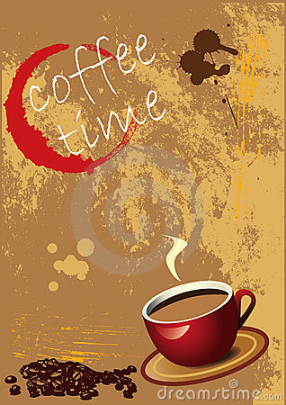 Grunge Coffee Background -EPS Vector-