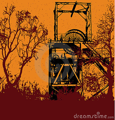 Free Grunge Colliery Background Royalty Free Stock Image - 8813436