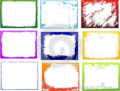 Grunge color frame set