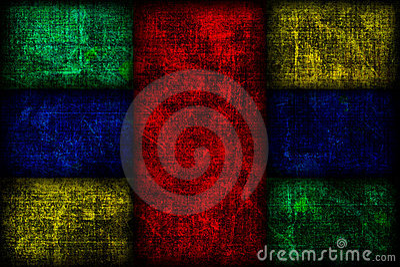 Grunge Colored Fibonacci Boxes Background