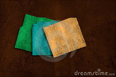 Grunge colorfu paper background on multiple planes