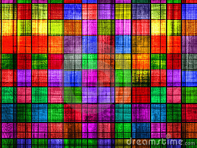 Grunge colorful chessboard