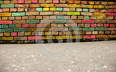 Grunge colorful wall background