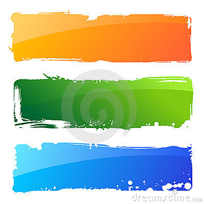 Free Grunge Colour Banners. Brush Abstract Background Royalty Free Stock Images - 20552749