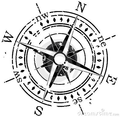 Free Grunge Compass Royalty Free Stock Image - 13650076