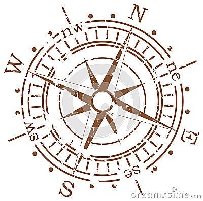 Free Grunge Compass Royalty Free Stock Photo - 13848655