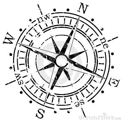 Free Grunge Compass Royalty Free Stock Photography - 14007857