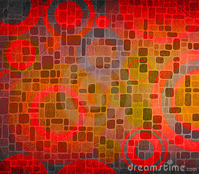 Grunge composition with circles ideal for backgrounds