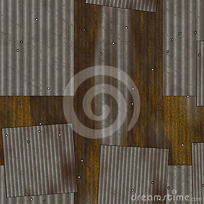 Grunge corrugated metal.