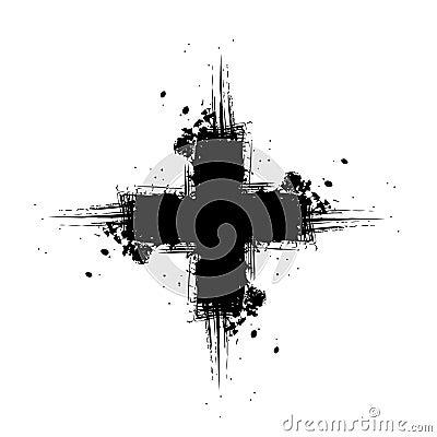 Grunge cross