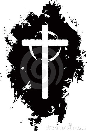 Grunge cross background
