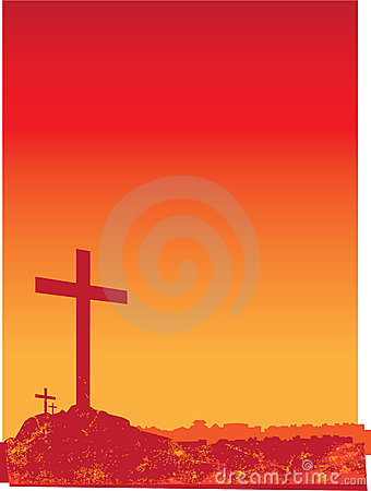 Grunge crosses orange