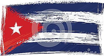 Grunge Cuba flag