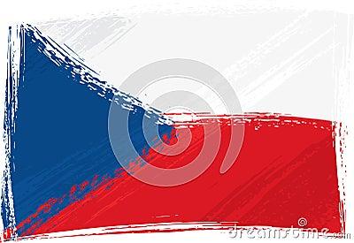 Grunge Czech Republic flag