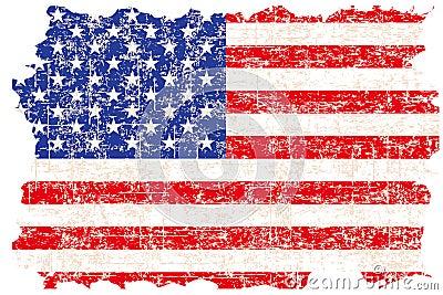 Grunge damaged American flag