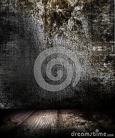 Free Grunge Dark Room Stock Image - 10460431
