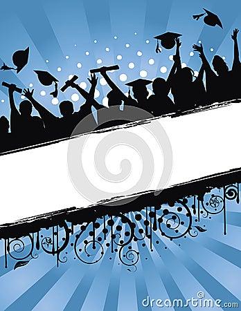 Grunge de célébration de graduation