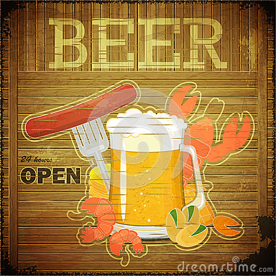 Grunge Design Beer Menu