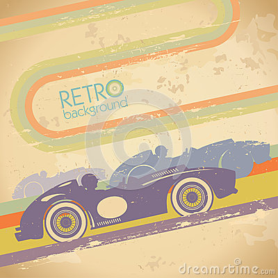 Grunge design with retro car.