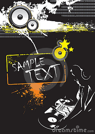 Grunge DJ Party Poster Design