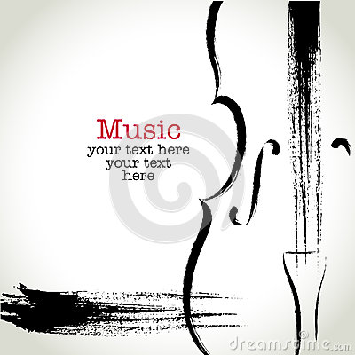 Free Grunge Drawing Cello With Brushwork Royalty Free Stock Photos - 39326638