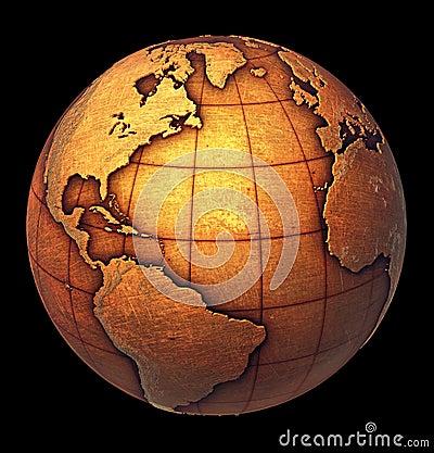 Free Grunge Earth Globe Royalty Free Stock Image - 18449556