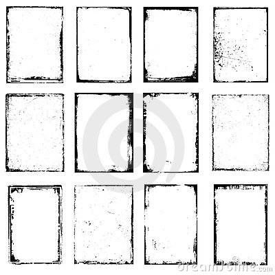Grunge edge frames