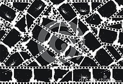 Grunge Empty filmstrips background