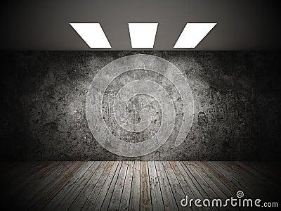 Grunge of empty room