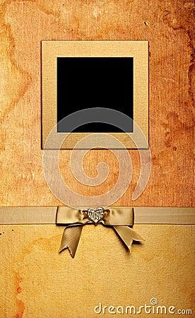 Grunge fabric photo frame