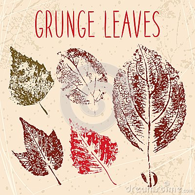 Grunge fallen leaves texture