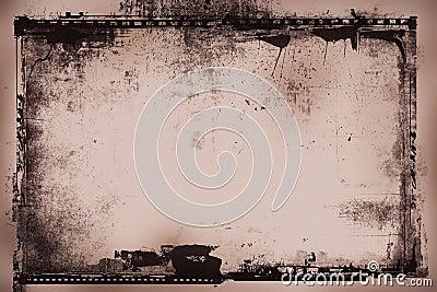 Grunge film negative