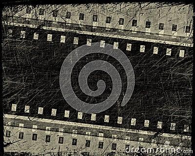 Grunge film stripe