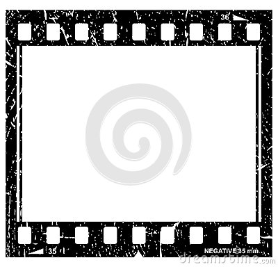 Grunge filmstrip icon