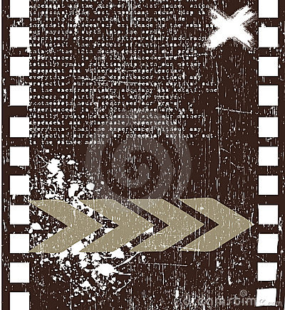 Grunge filmstrip vector background
