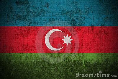 Grunge Flag Of Azerbaijan