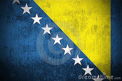 Grunge Flag Of Bosnia and Herzegovina