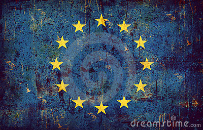 Grunge flag of European union
