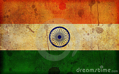 Grunge Flag of India Illustration