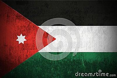Grunge Flag Of Jordan