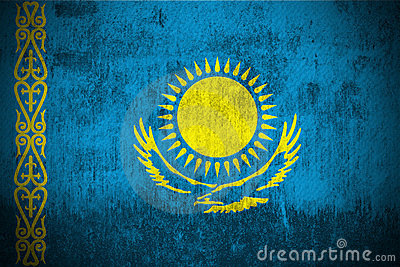 Grunge Flag Of Kazakhstan