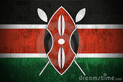 Grunge Flag Of Kenya