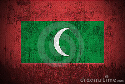 Grunge Flag Of Maldives