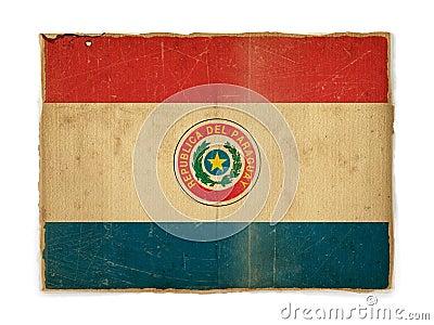 Grunge flag of Paraguay