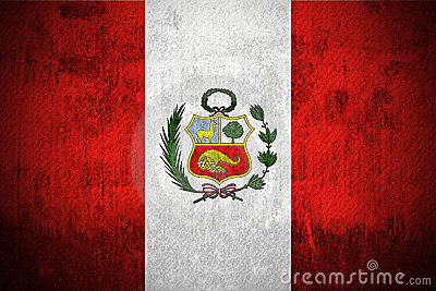 Grunge Flag Of Peru