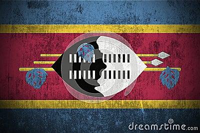 Grunge Flag Of Swaziland