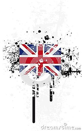 Grunge flag UK
