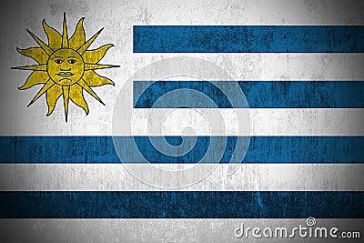 Grunge Flag Of Uruguay