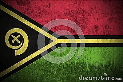 Grunge Flag Of Vanuatu