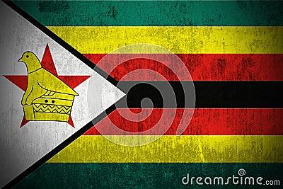Grunge Flag Of Zimbabwe